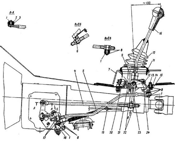 втулка рычага переключателя передач renault sym